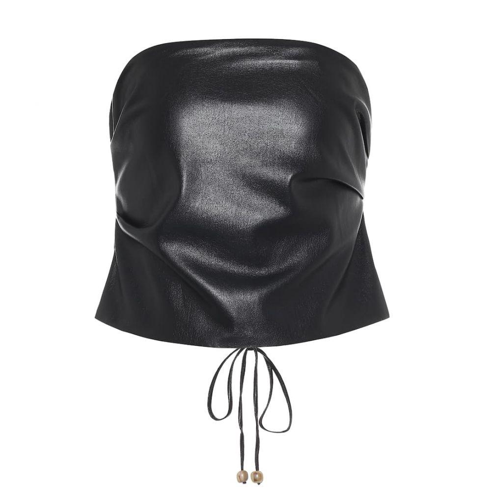 ナヌシュカ Nanushka レディース ベアトップ・チューブトップ・クロップド トップス【dalhia faux leather bandeau top】Black