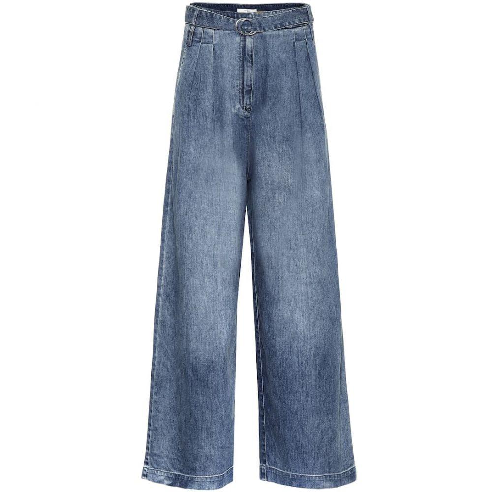 ティビ Tibi レディース ジーンズ・デニム ボトムス・パンツ【high-rise wide-leg jeans】Vintage Stone Wash