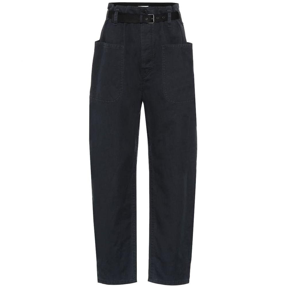 イザベル マラン Isabel Marant, Etoile レディース ボトムス・パンツ 【cotton and linen high-rise pants】Faded Black