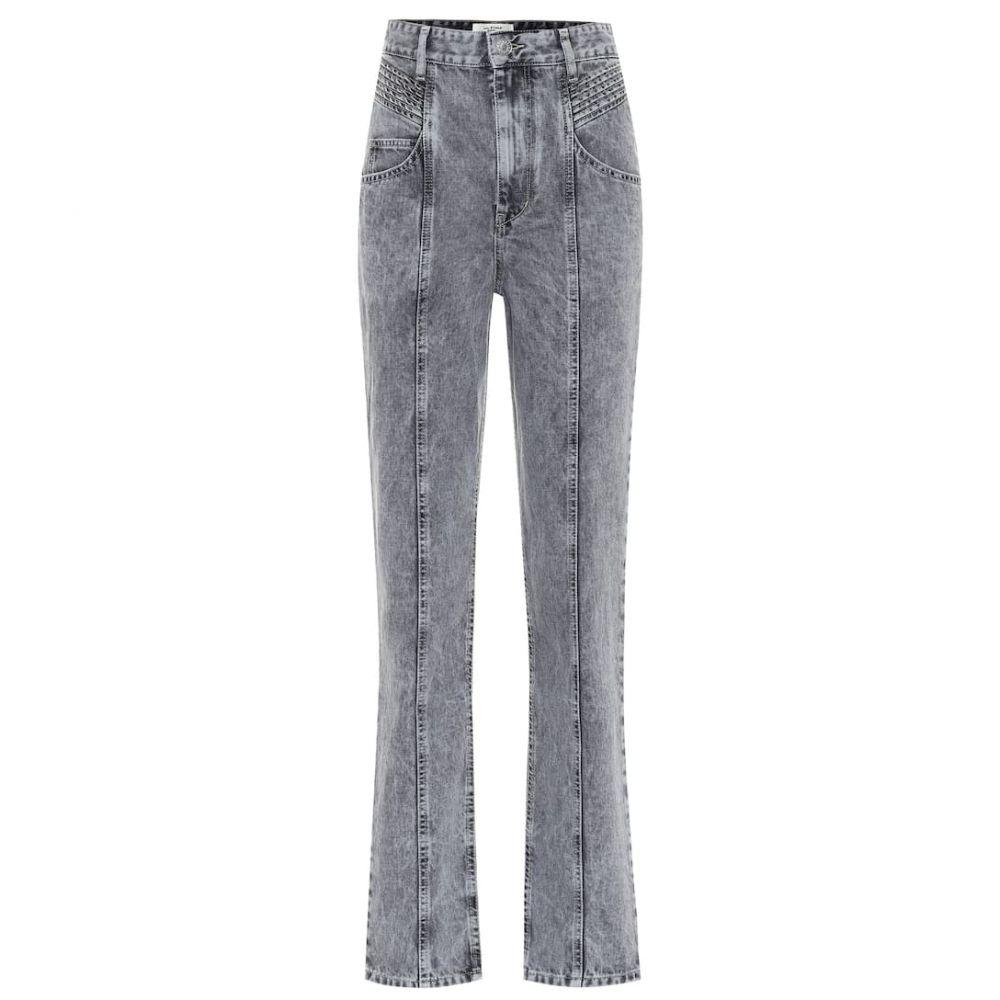 イザベル マラン Isabel Marant, Etoile レディース ジーンズ・デニム ボトムス・パンツ【henoya high-rise straight jeans】Grey