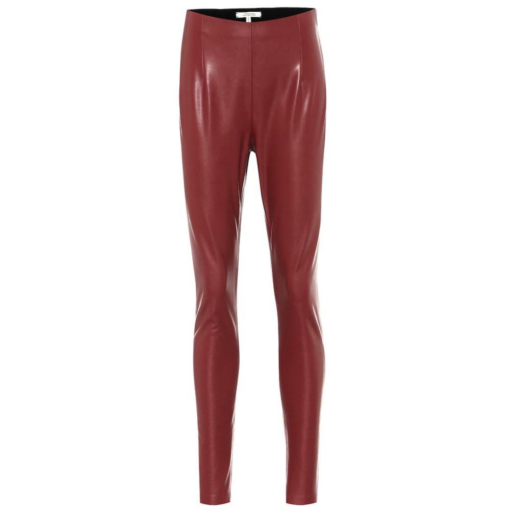 ドロシー シューマッハ Dorothee Schumacher レディース スキニー・スリム ボトムス・パンツ【skinny faux-leather pants】Dark Ruby