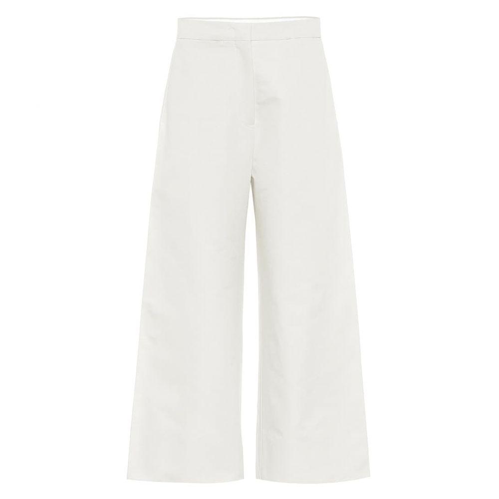 ジル サンダー Jil Sander レディース ボトムス・パンツ 【high-rise wide-leg cotton pants】Natural