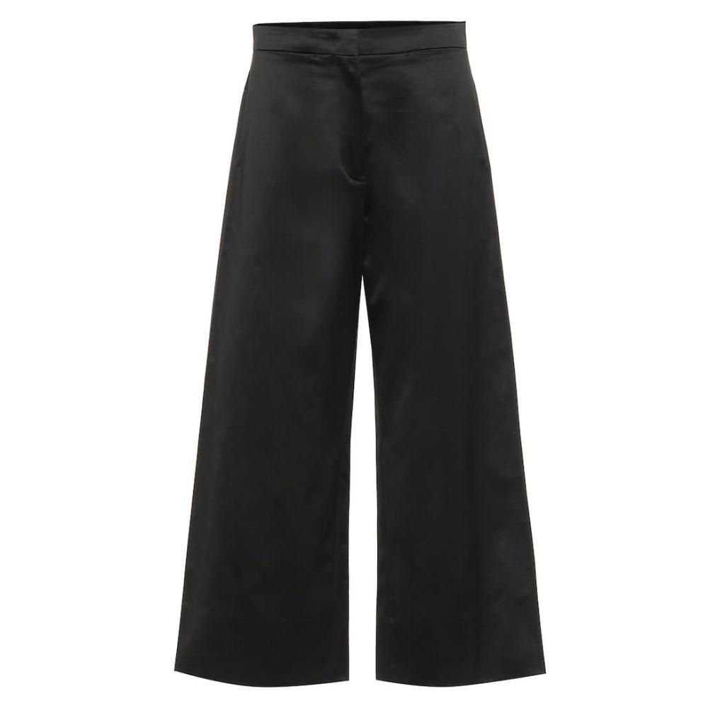 ジル サンダー Jil Sander レディース ボトムス・パンツ 【high-rise wide-leg cotton pants】Black
