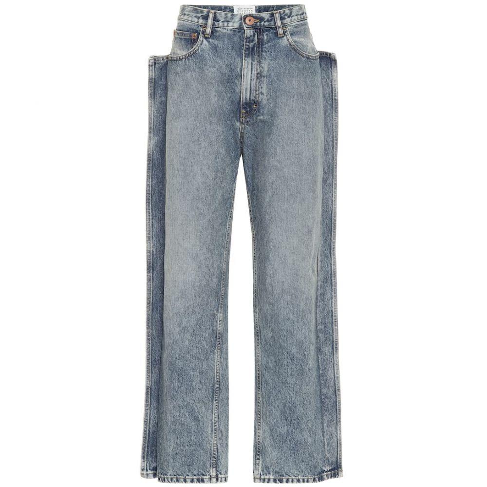 メゾン マルジェラ Maison Margiela レディース ジーンズ・デニム ボトムス・パンツ【high-rise straight-leg jeans】Blu Denim Used