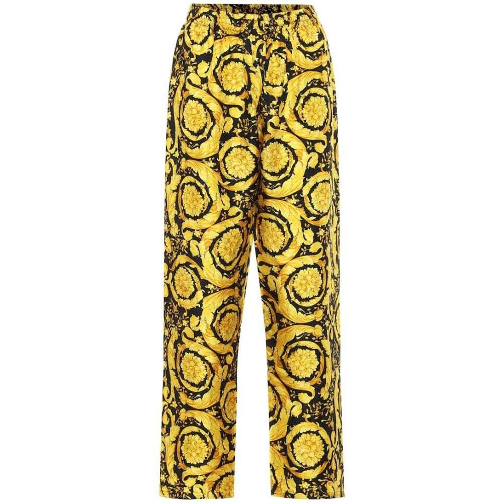 ヴェルサーチ Versace レディース ボトムス・パンツ 【barocco-print silk pants】F. Do Nero
