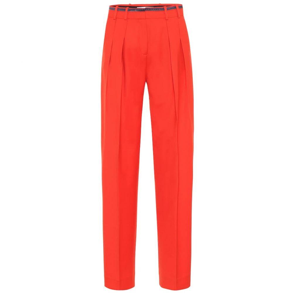 ヴィクトリア ベッカム Victoria Victoria Beckham レディース ボトムス・パンツ 【wool-blend straight-leg pants】Flame Red