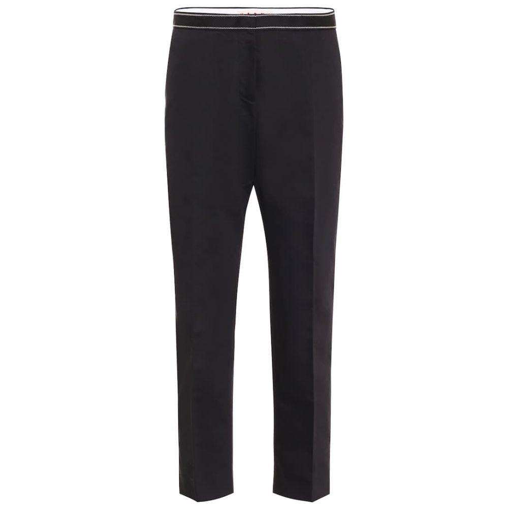 マルニ Marni レディース ボトムス・パンツ 【high-rise cotton and linen pants】Black
