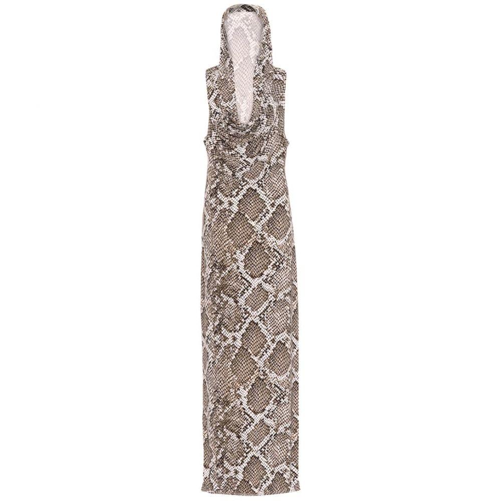 ノーマ カマリ Norma Kamali レディース ワンピース ワンピース・ドレス【neeta snake-print jersey dress】Scale Python