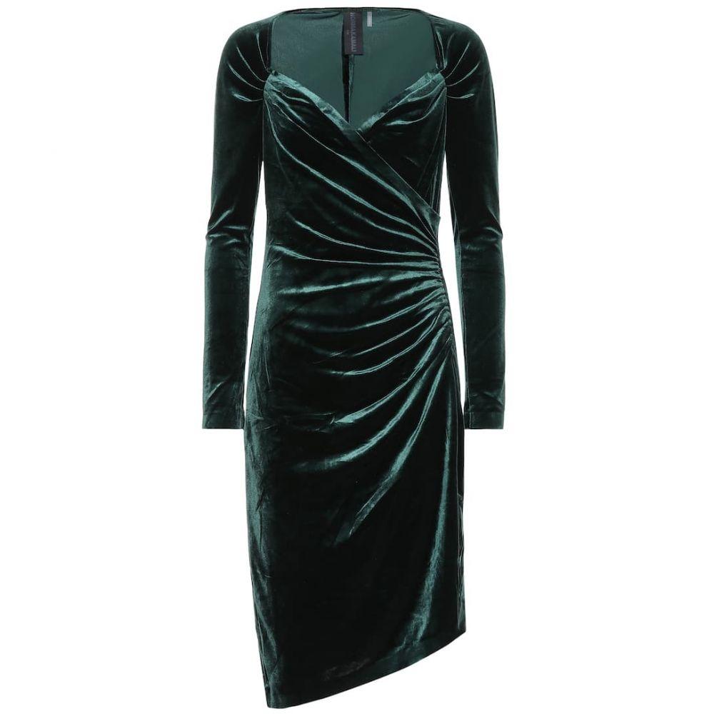 ノーマ カマリ Norma Kamali レディース ワンピース ワンピース・ドレス【asymmetric velvet dress】Forest Green