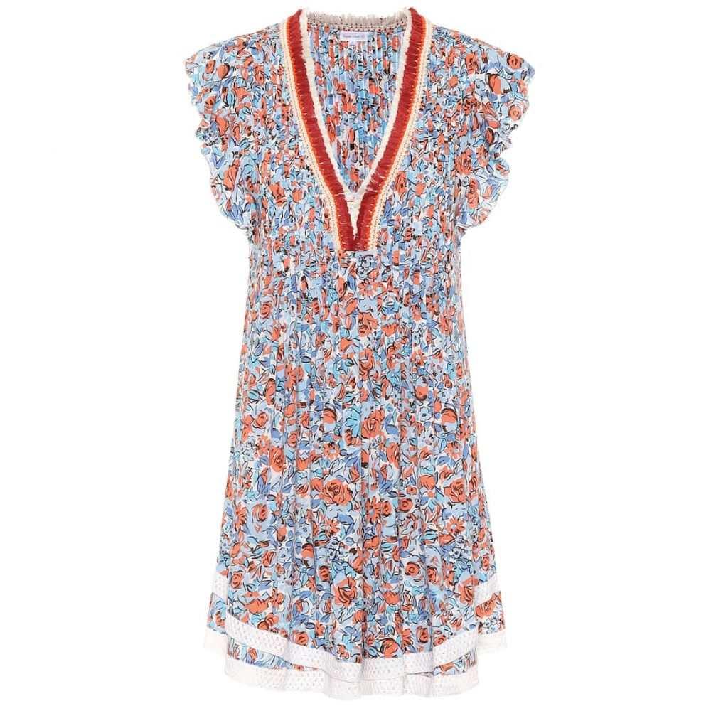 プーペット セント バース Poupette St Barth レディース ワンピース ワンピース・ドレス【sasha floral minidress】Blue Rose
