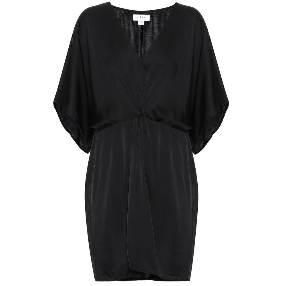 ベルベット グラハム&スペンサー Velvet レディース ワンピース ワンピース・ドレス【zoey satin minidress】Black