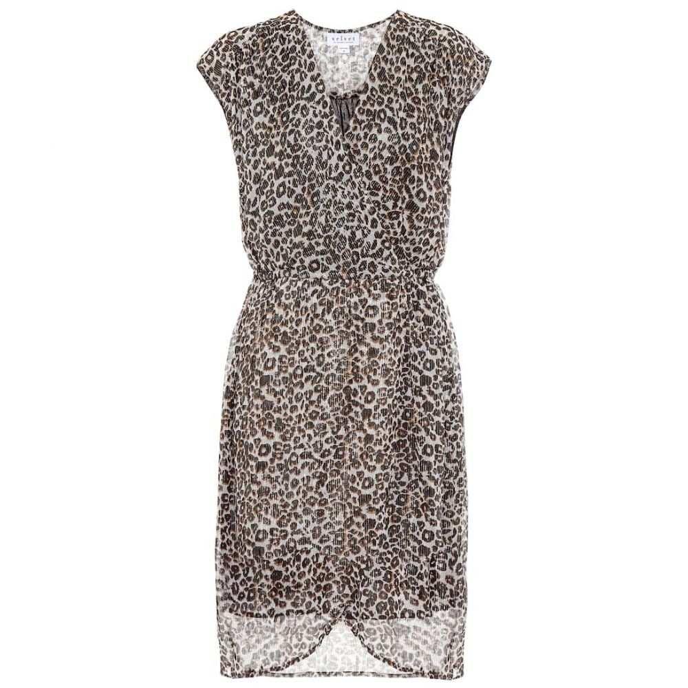 ベルベット グラハム&スペンサー Velvet レディース ワンピース ワンピース・ドレス【regan leopard-print minidress】Leopard