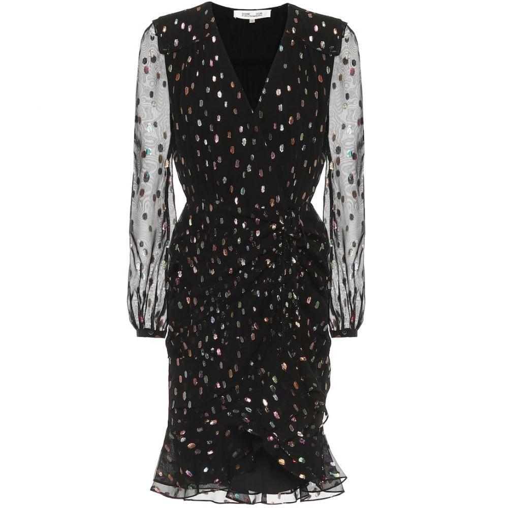 ダイアン フォン ファステンバーグ Diane von Furstenberg レディース ワンピース ワンピース・ドレス【berdina metallic minidress】Black Multi