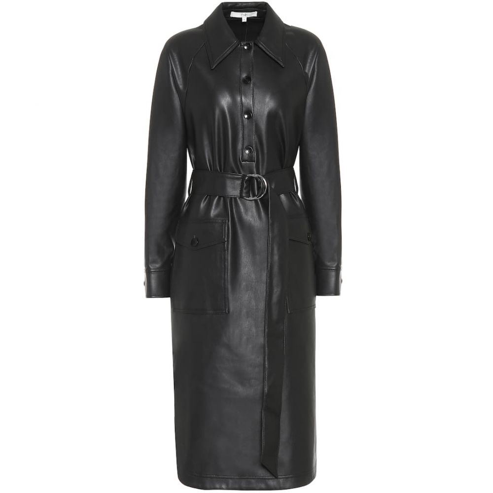 ティビ Tibi レディース ワンピース ミドル丈 ワンピース・ドレス【faux-leather midi dress】Black