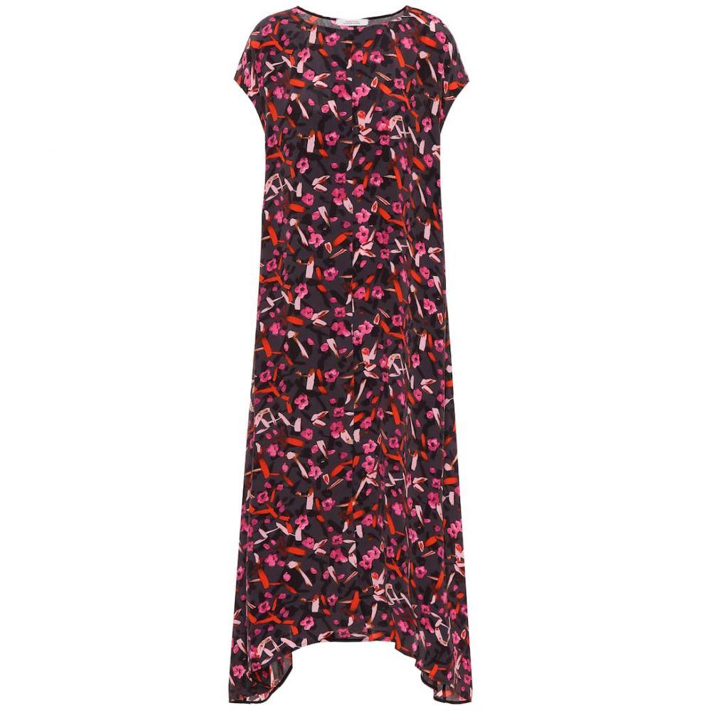 ドロシー シューマッハ Dorothee Schumacher レディース ワンピース ミドル丈 ワンピース・ドレス【abstract flowering floral midi dress】Grey Artsy