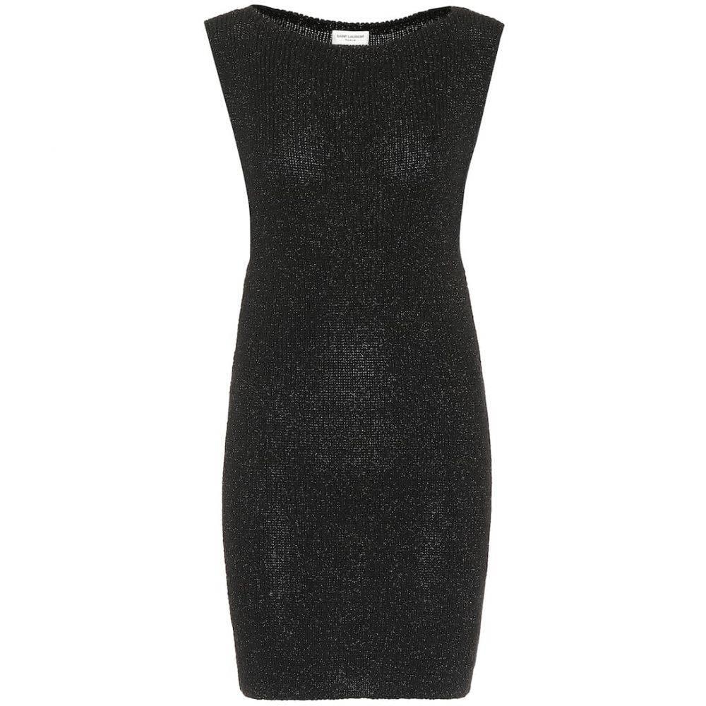 イヴ サンローラン Saint Laurent レディース ワンピース ワンピース・ドレス【knit minidress】Noir Brillant