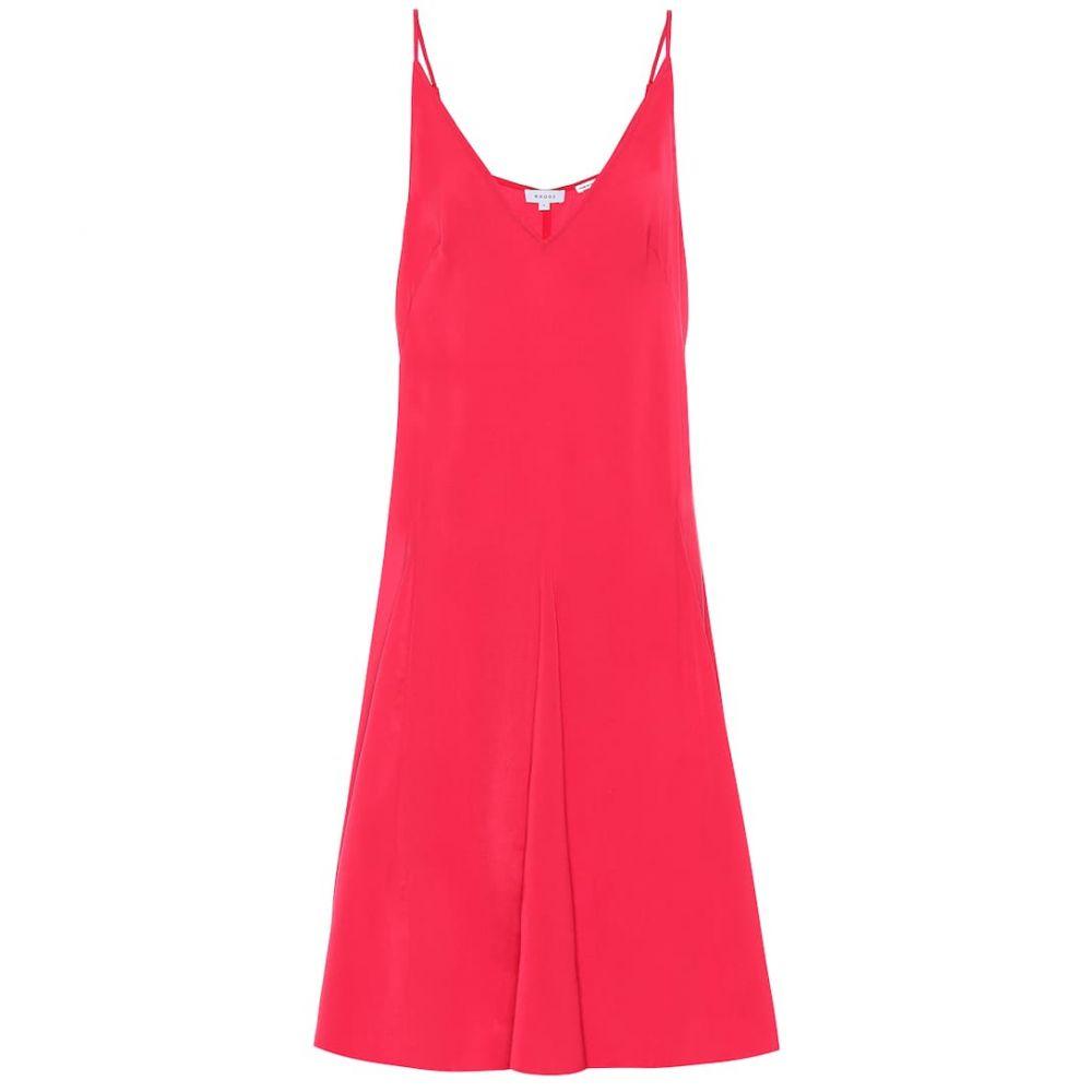 ロードリゾート RHODE レディース ワンピース スリップドレス ワンピース・ドレス【satin slip dress】Lipstick Red