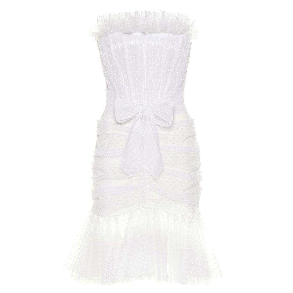 フィロソフィ ディ ロレンツォ セラフィニ Philosophy Di Lorenzo Serafini レディース パーティードレス ワンピース・ドレス【polka-dot tulle minidress】White