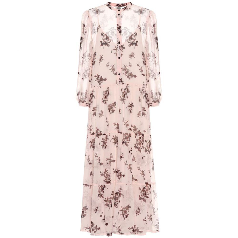 バウム ウンド ヘルガーデン Baum und Pferdgarten レディース ワンピース ミドル丈 ワンピース・ドレス【aia floral midi dress】Peach Brown Rose