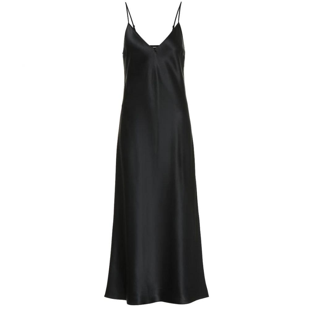 ジョゼフ Joseph レディース ワンピース スリップドレス ワンピース・ドレス【clea silk-satin slip dress】Black