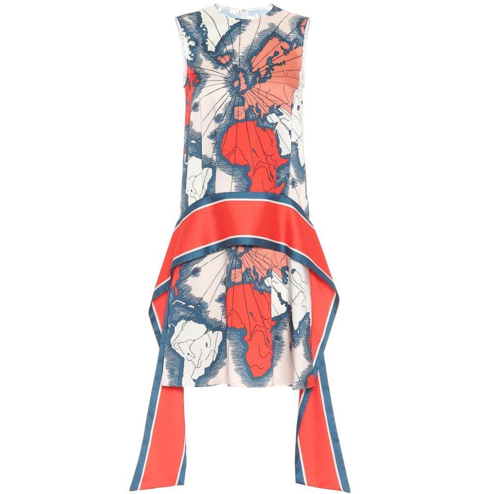 ヴィクトリア ベッカム Victoria Victoria Beckham レディース ワンピース ワンピース・ドレス【map-print scarf dress】Map Print - Red/Multi