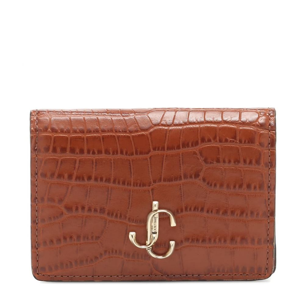 ジミー チュウ Jimmy Choo レディース 財布 【myah croc-effect leather wallet】Cuoio