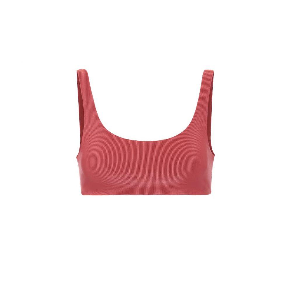 ジェイド Jade Swim レディース トップのみ 水着・ビーチウェア【rounded edges bikini top】Ribbed Red