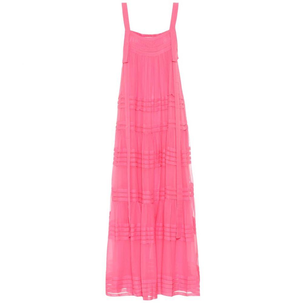 リーマシューズ Lee Mathews レディース ワンピース ワンピース・ドレス【silk dress】Fuchsia