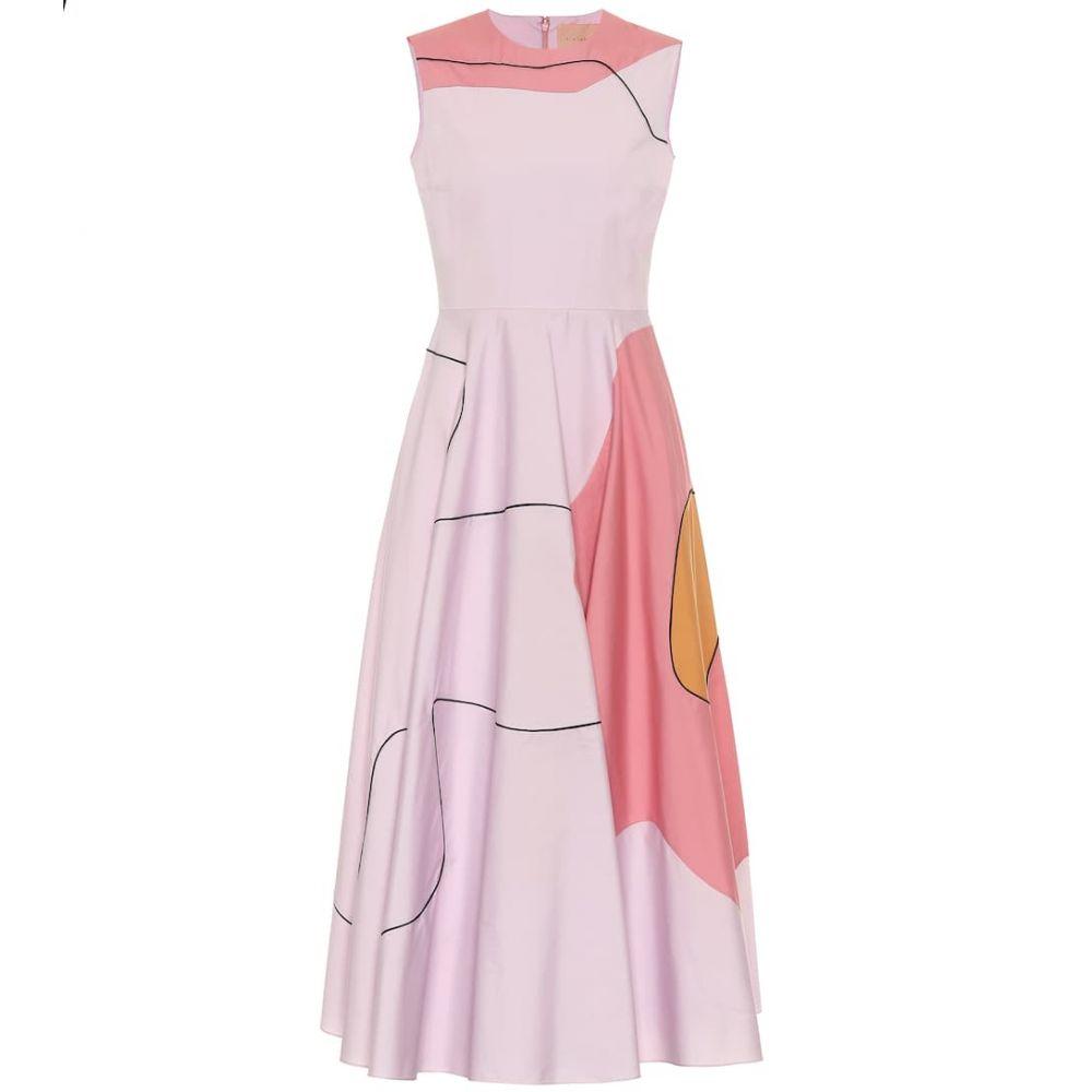ロクサンダ Roksanda レディース ワンピース ミドル丈 ワンピース・ドレス【printed cotton midi dress】Lilac/Rose/Caramel