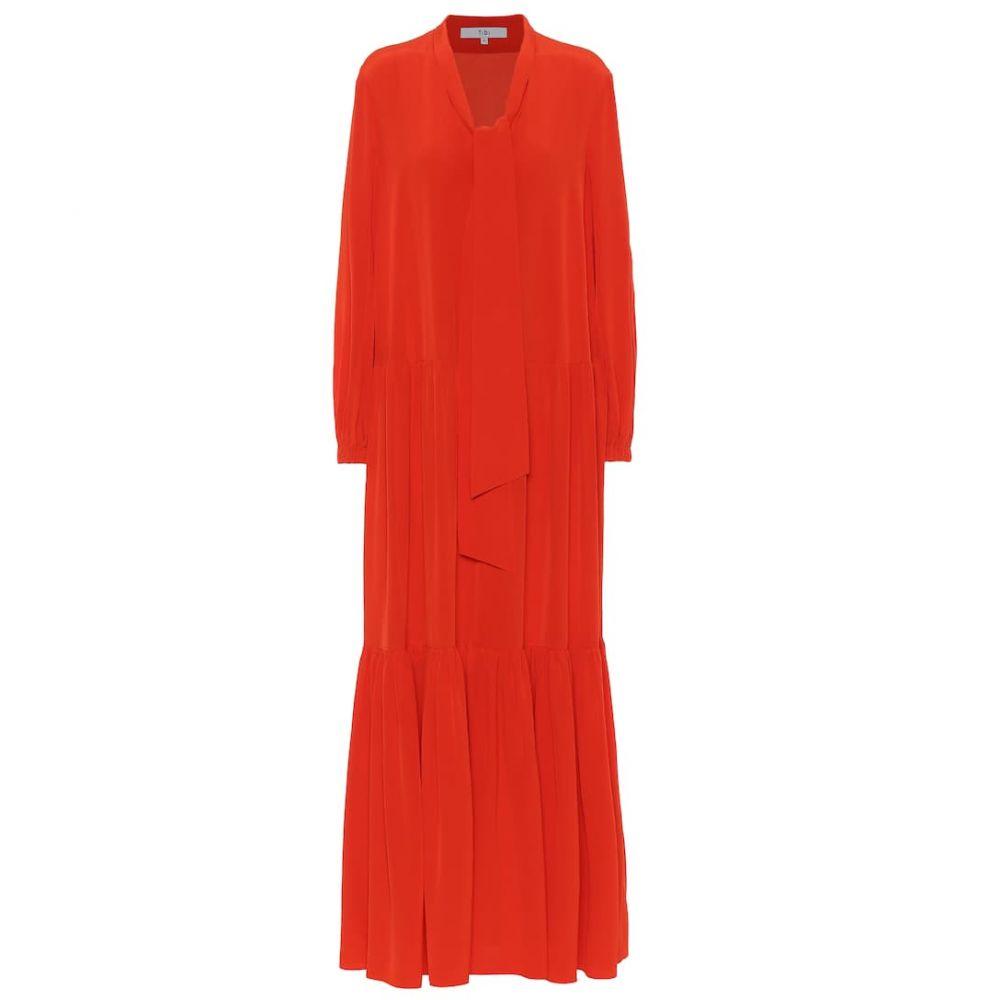 ティビ Tibi レディース ワンピース ワンピース・ドレス【silk-crepe dress】Blood Orange