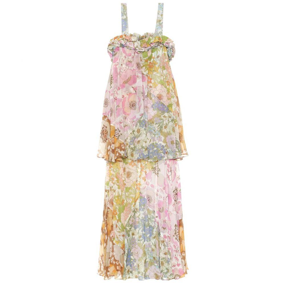 ジマーマン Zimmermann レディース ワンピース ワンピース・ドレス【super eight cotton and silk dress】Mixed Floral