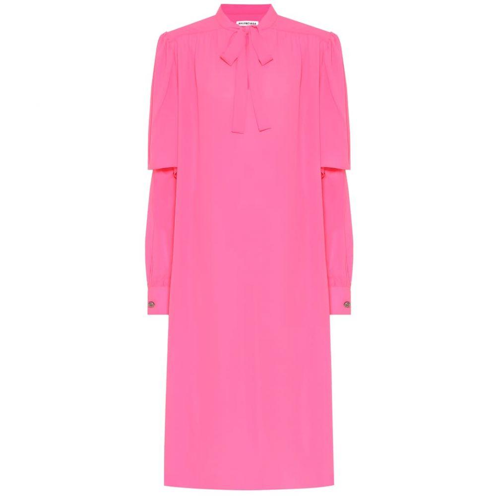 バレンシアガ Balenciaga レディース ワンピース ミドル丈 ワンピース・ドレス【crepe midi dress】Fluo Pink