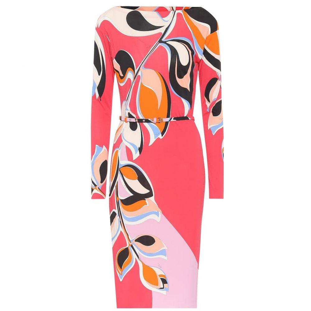 エミリオ プッチ Emilio Pucci レディース ワンピース ワンピース・ドレス【printed crepe dress】Rosso/Peonia