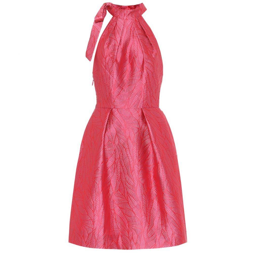 モニーク ルイリエ Monique Lhuillier レディース ワンピース ワンピース・ドレス【halterneck brocade dress】Raspberry