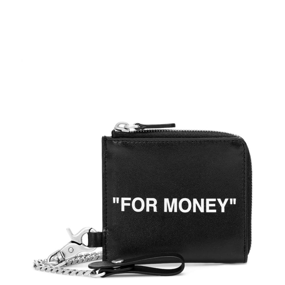 オフホワイト Off-White レディース 財布 【leather coin pouch】Black White