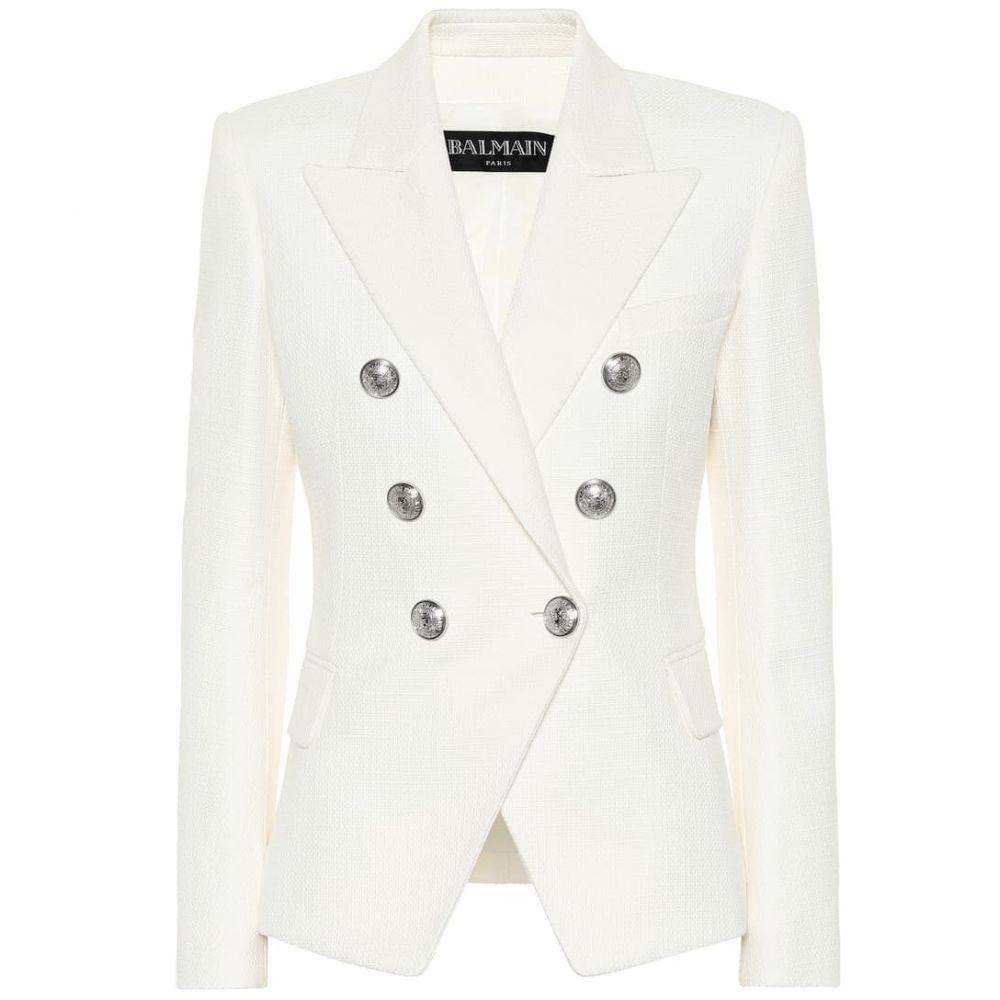 バルマン Balmain レディース スーツ・ジャケット アウター【Cotton blazer】Blanc