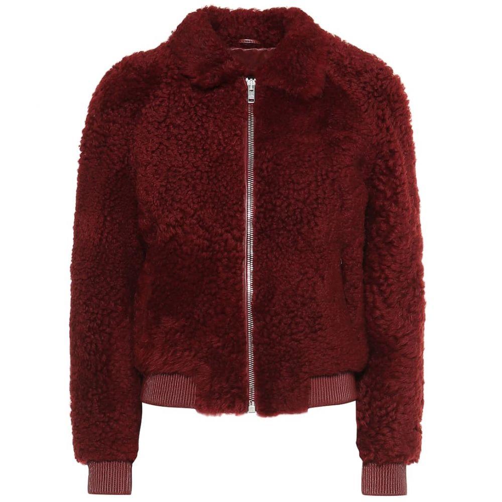 イザベル マラン Isabel Marant レディース ブルゾン ミリタリージャケット シアリング アウター【Salvia shearling bomber jacket】Raspberry