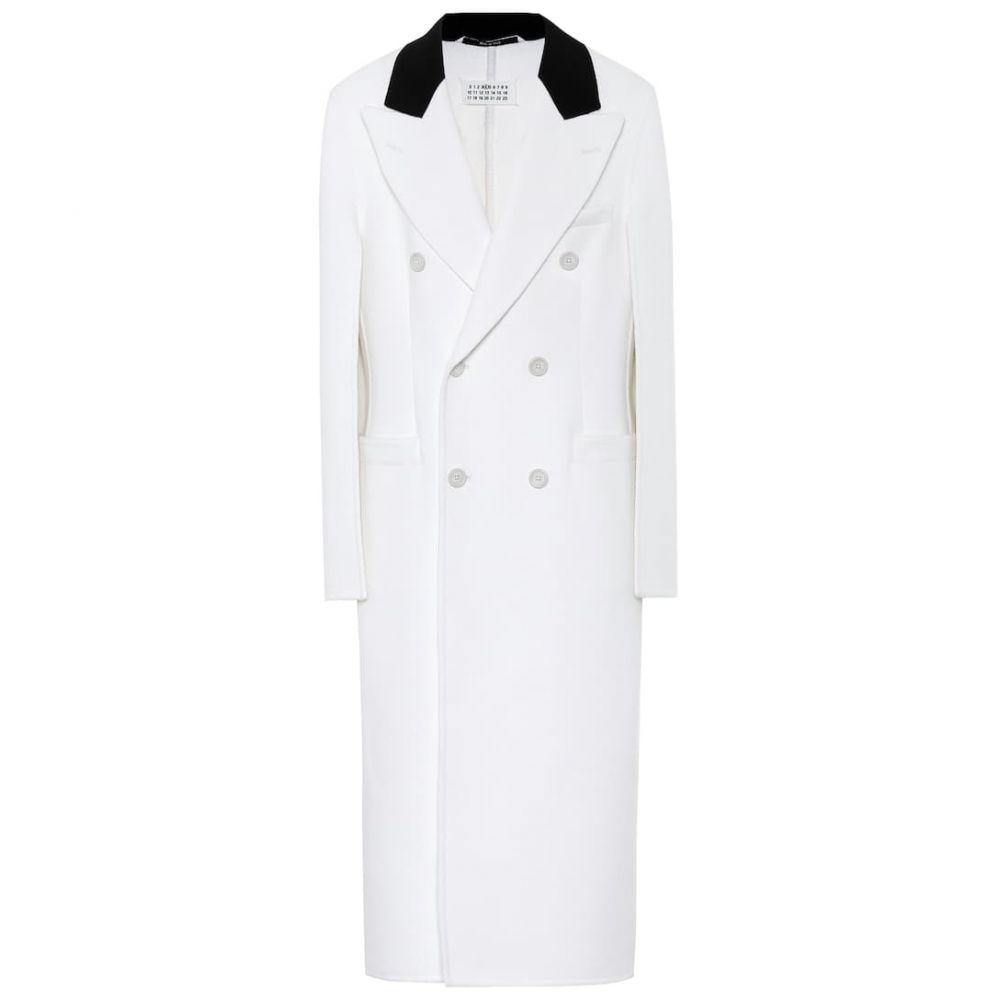 メゾン マルジェラ Maison Margiela レディース コート アウター【Wool, angora and cashgora coat】Off White