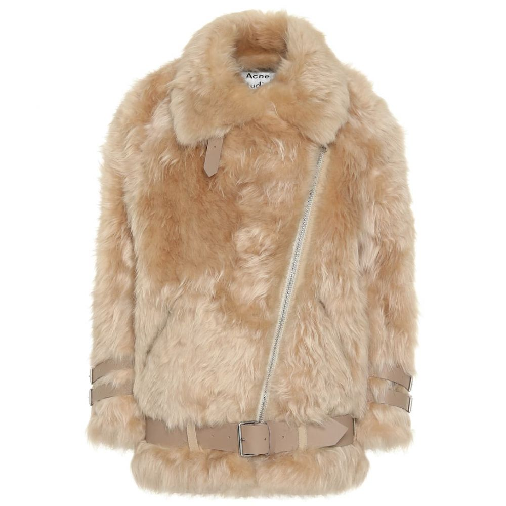 アクネ ストゥディオズ Acne Studios レディース ジャケット アビエイター シアリング アウター【Shearling aviator jacket】Wheat Beige/Cream Beige