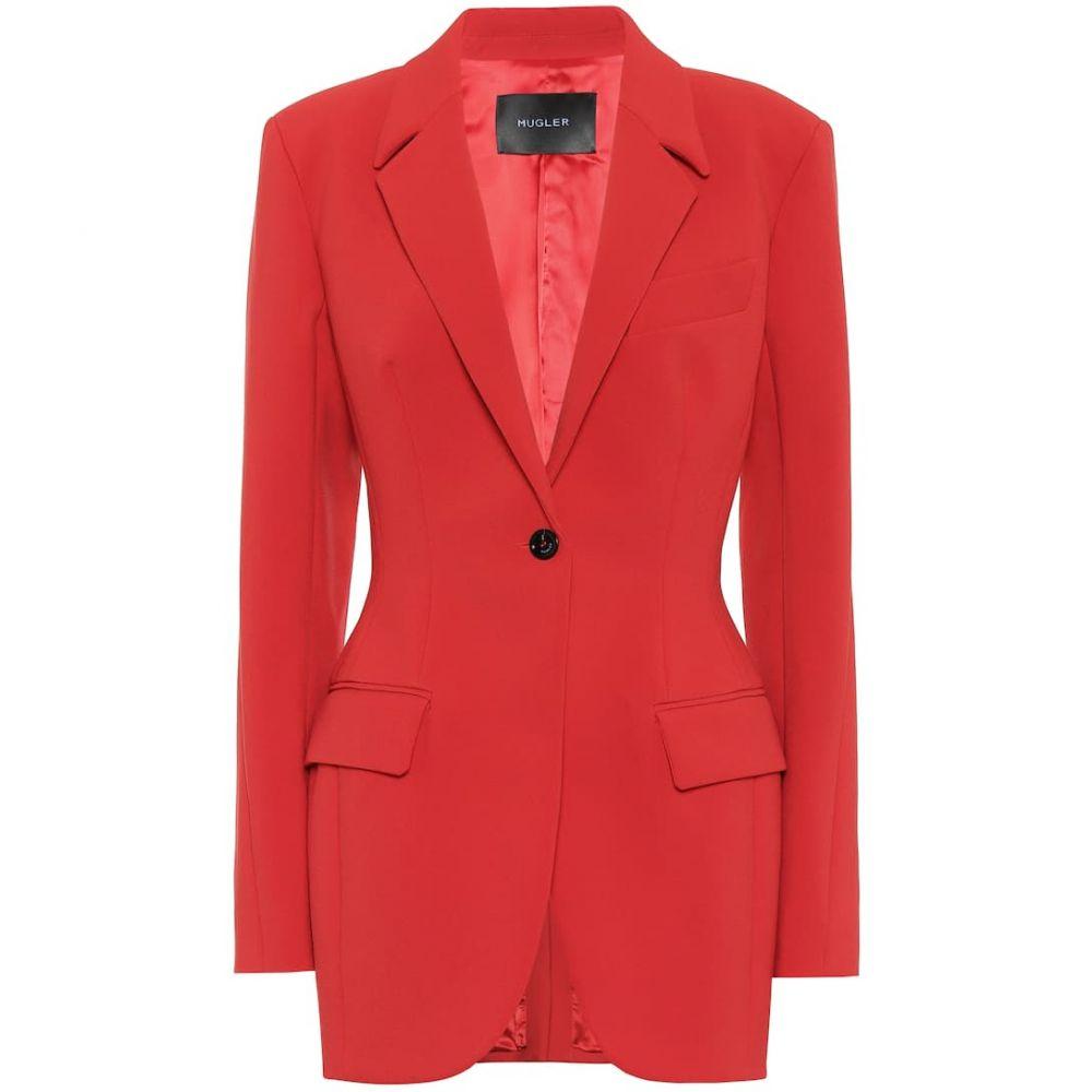ミュグレー Mugler レディース スーツ・ジャケット アウター【Stretch-crepe blazer】Red
