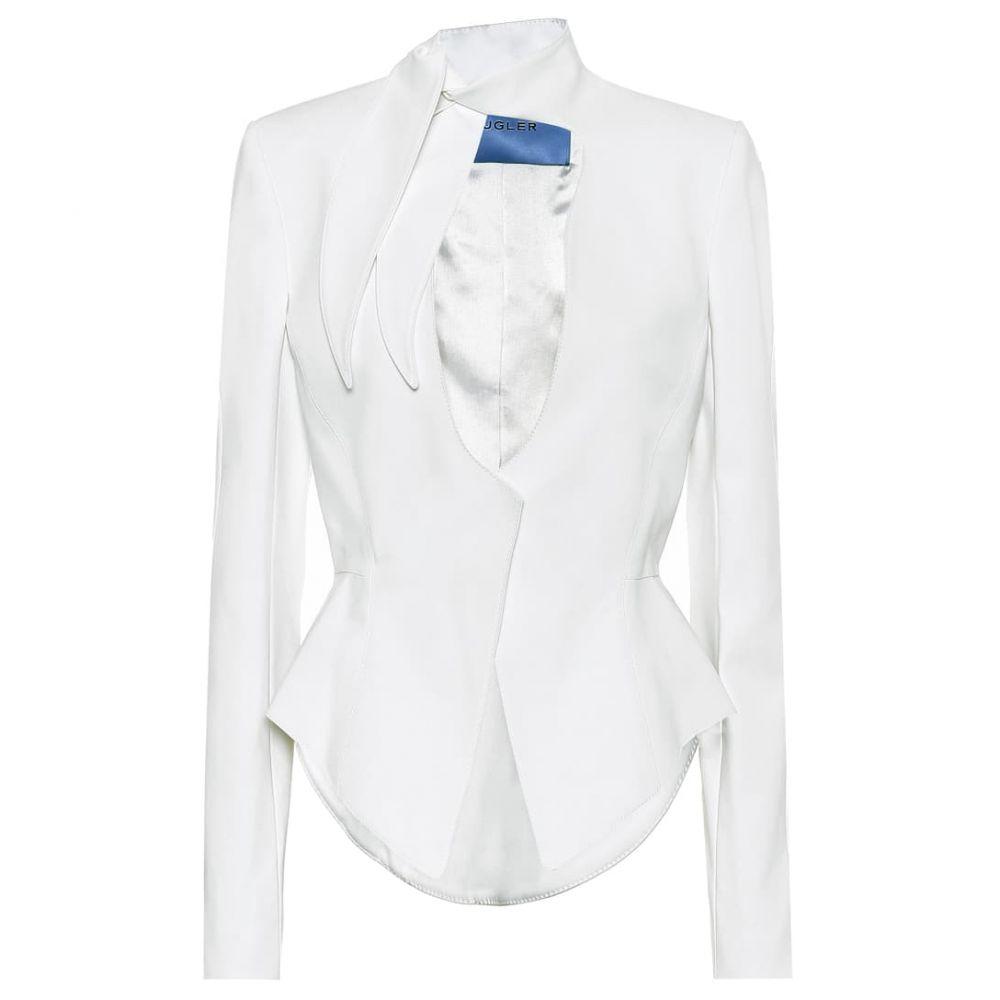 ミュグレー Mugler レディース スーツ・ジャケット アウター【Cotton-blend blazer】Off White
