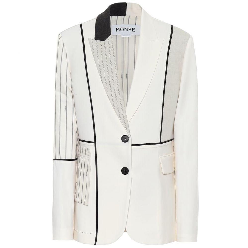モンス Monse レディース スーツ・ジャケット アウター【Inside Out Patchwork blazer】Ivory
