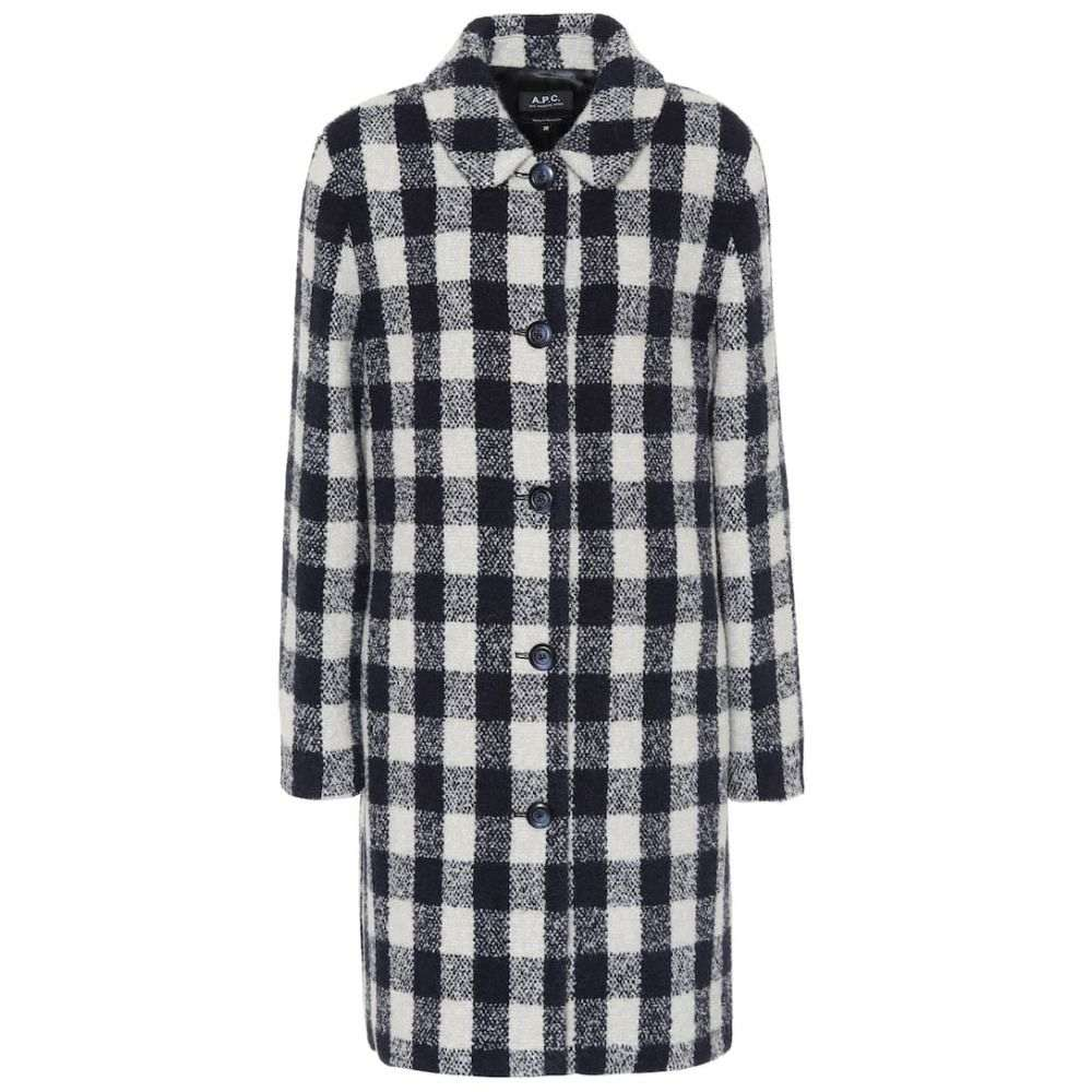 アーペーセー A.P.C. レディース コート アウター【Poupee checked wool-blend coat】Lab Gris Clair