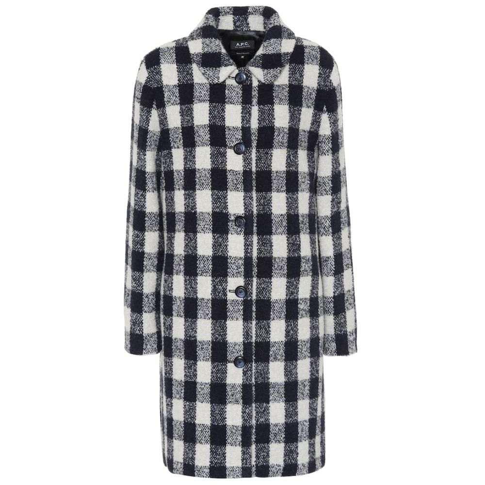 アーペーセー A.P.C. レディース コート アウター【Poupee checked wool-blend coat】Lab Gris Clair