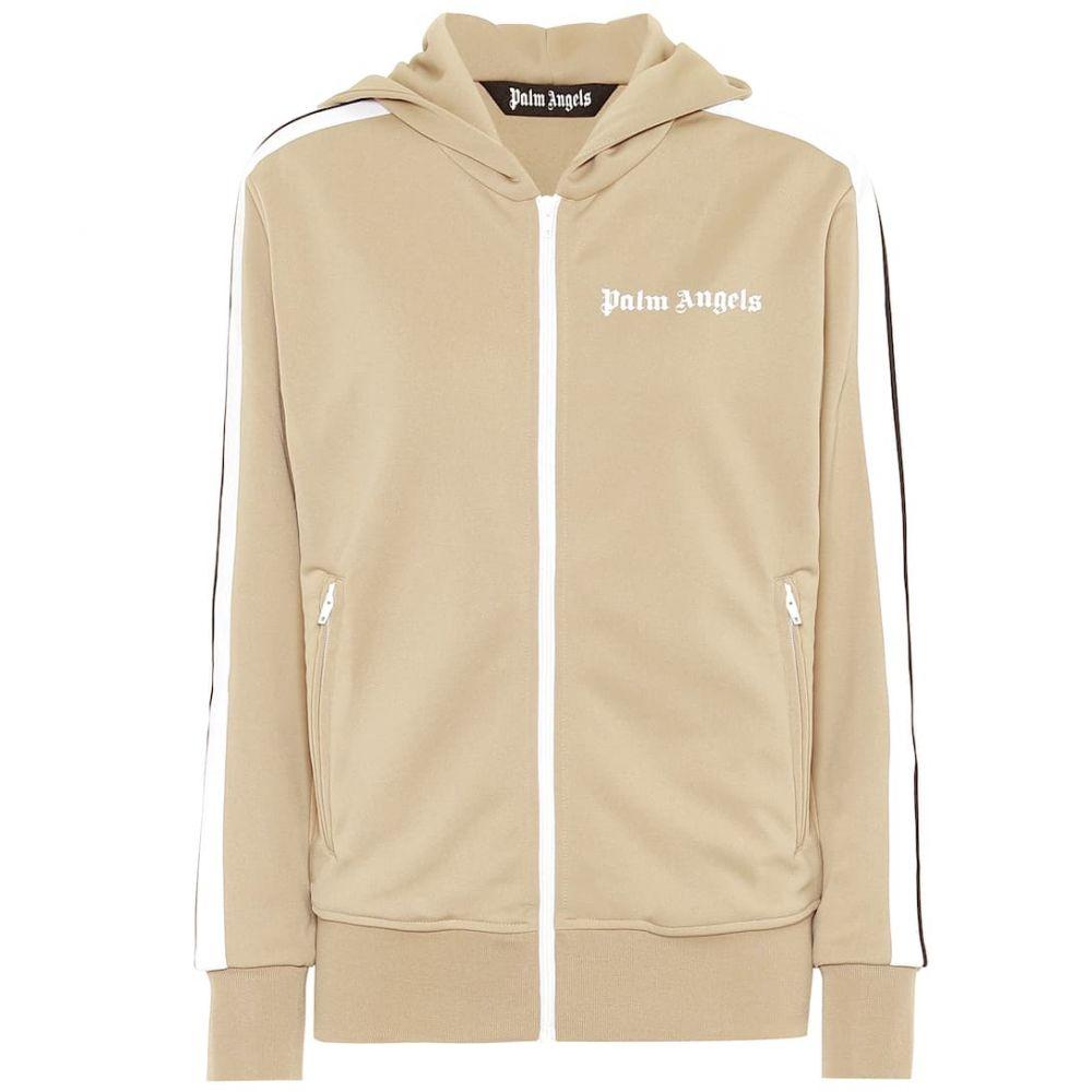 パーム エンジェルス Palm Angels レディース ジャージ アウター【Logo hoodie track jacket】Beige White