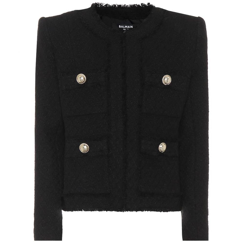 バルマン Balmain レディース スーツ・ジャケット アウター【Tweed jacket】Noir