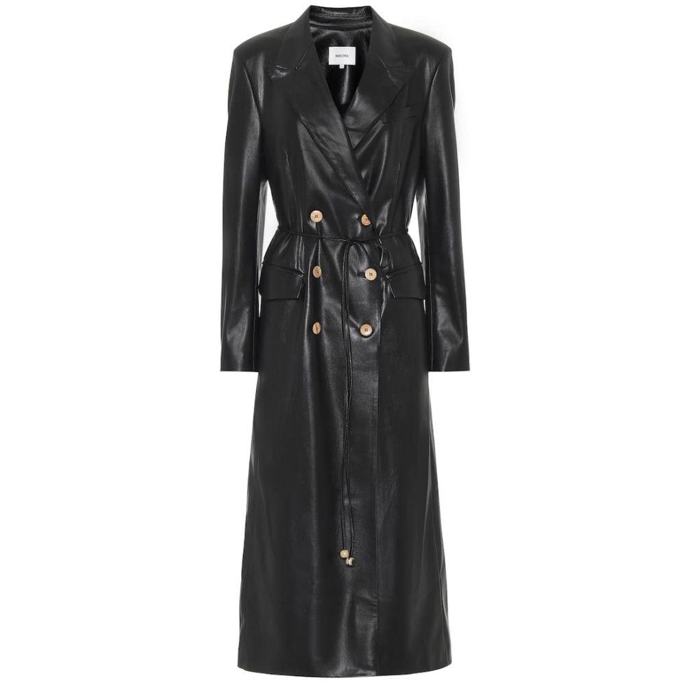 ナヌシュカ Nanushka レディース レザージャケット アウター【Manila faux-leather coat】Black