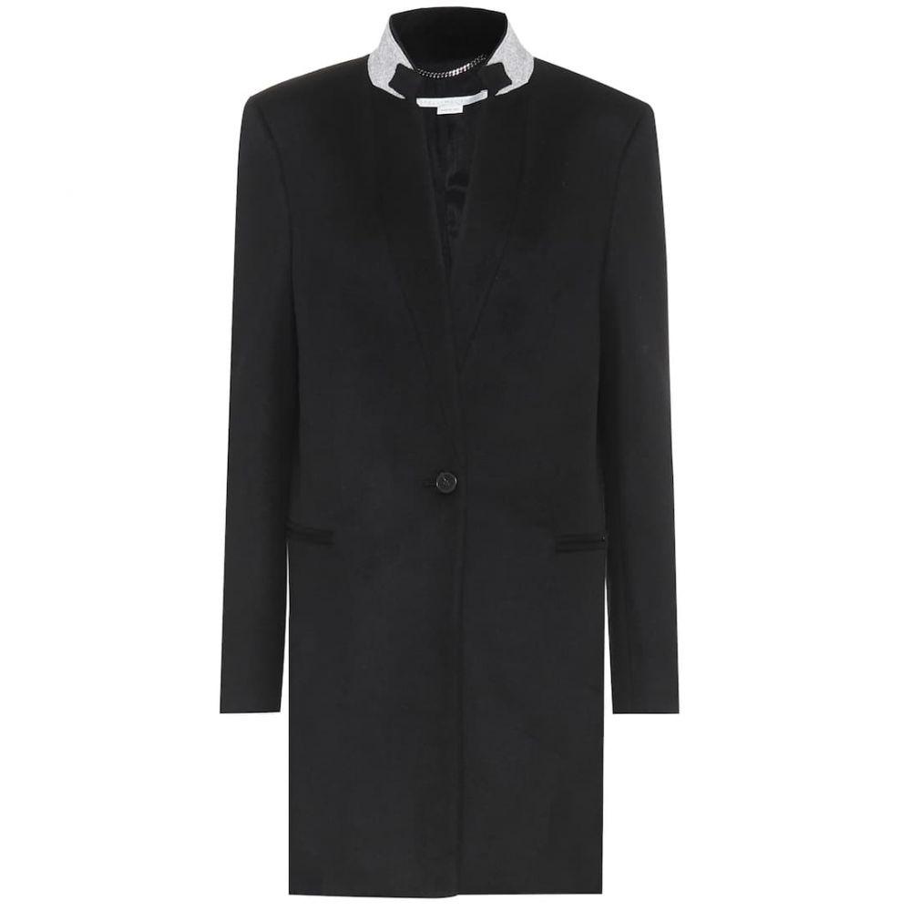 ステラ マッカートニー Stella McCartney レディース コート アウター【Wool coat】Black