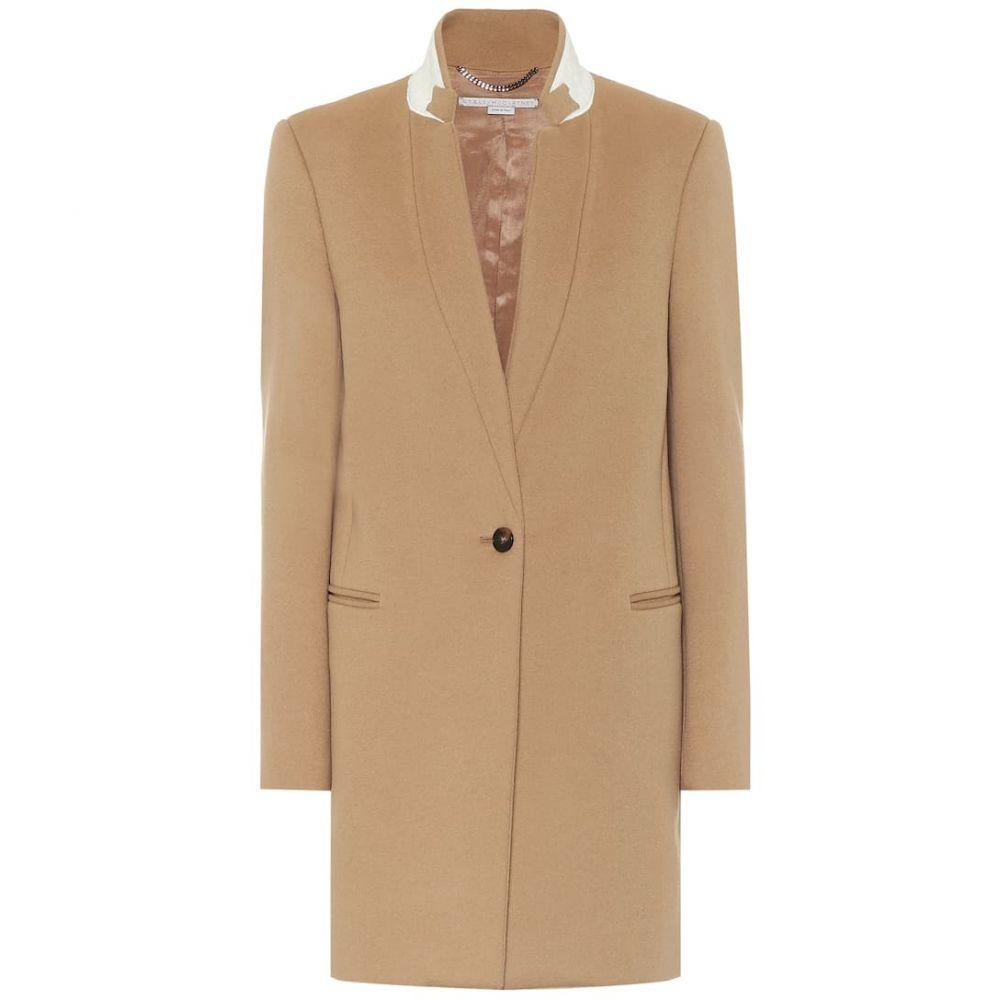 ステラ マッカートニー Stella McCartney レディース コート アウター【Bryce wool-blend coat】Camel