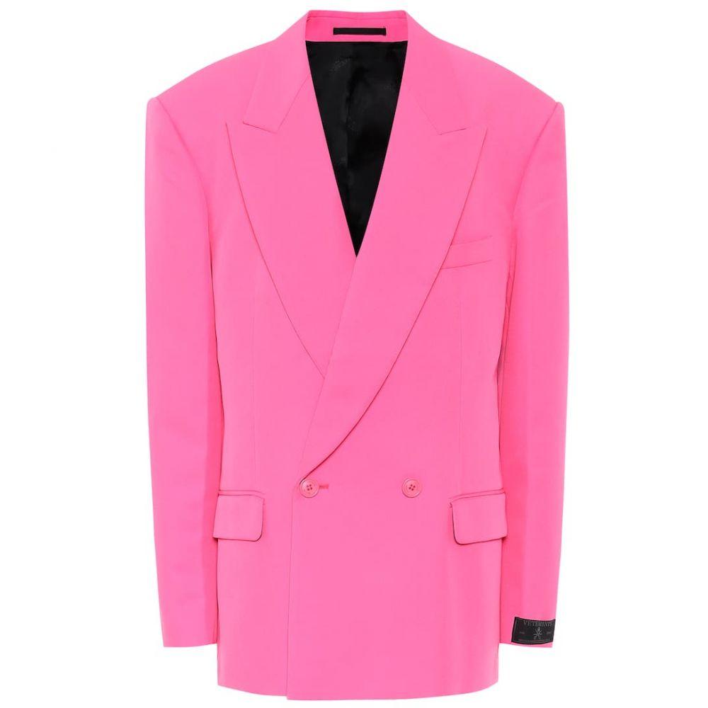 ヴェトモン Vetements レディース スーツ・ジャケット アウター【Oversized twill blazer】Fluo Pink